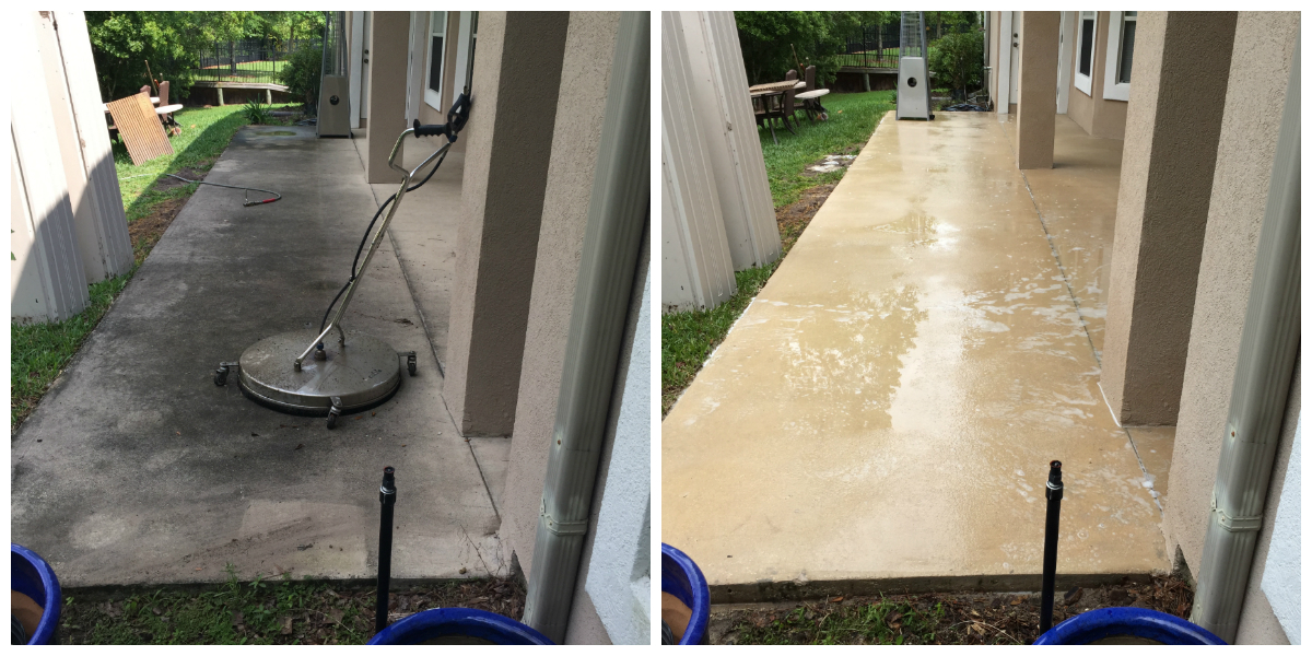 Concrete patio cleaner home design ideas and inspiration for Pressure wash concrete patio