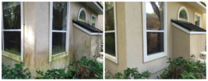 Pressure wash or re-paint Stucco-Cleaning-Before-and-After