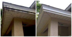 Annual Pressure Washing keeps your soffits bright white