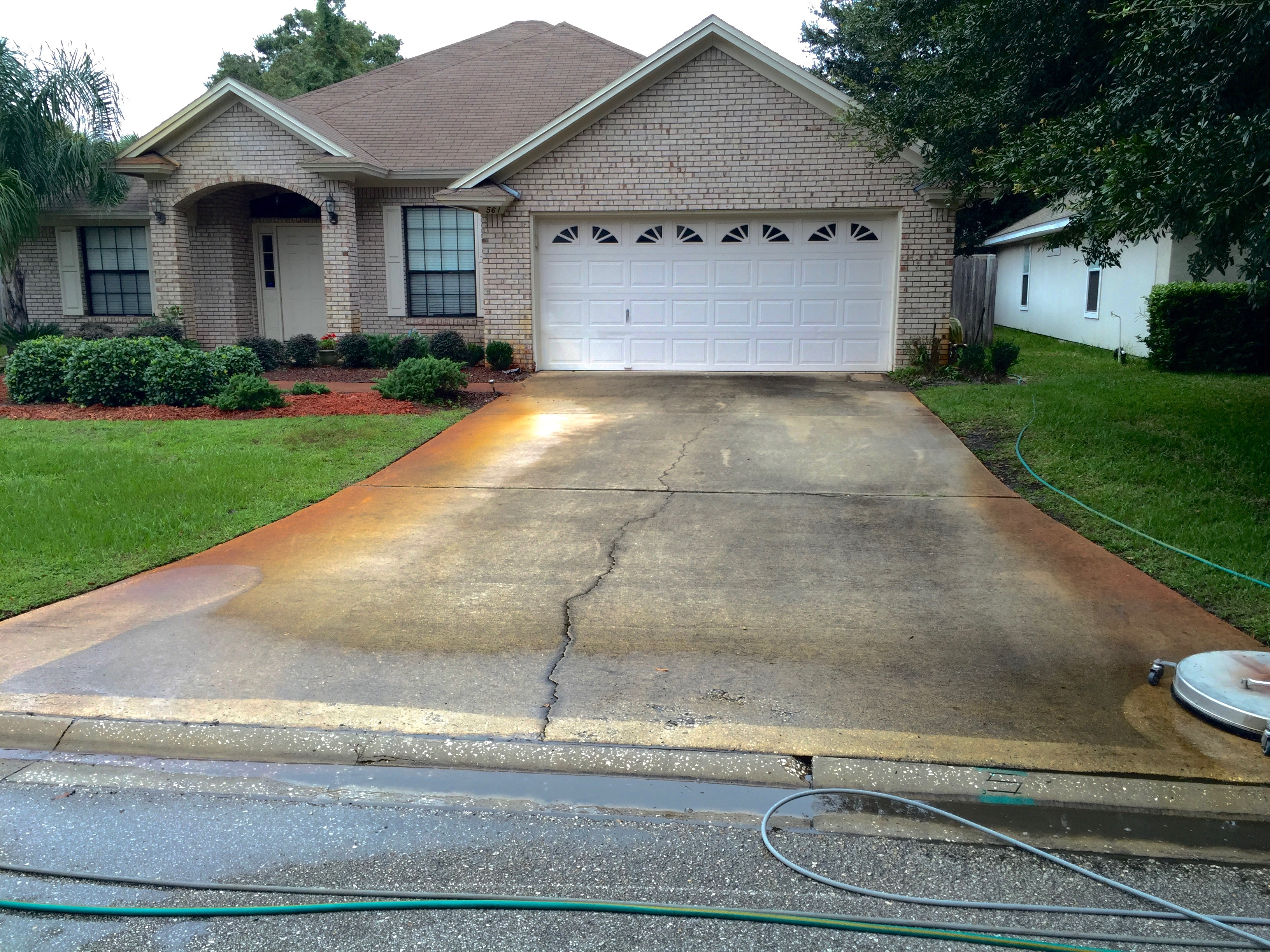Removing rust stains from concrete can be challenging for Driveway stain remover
